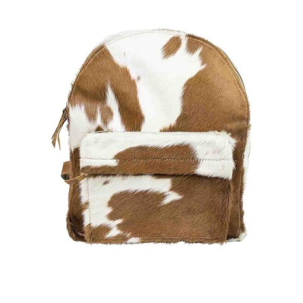 Backpack Brown Cow Zipper (bos Taurus Taurus) Leather - LifeDeals