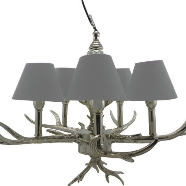 Pendant 5 Arm Antlers (temporarily Without Lampshades) 100% aluminum - LifeDeals
