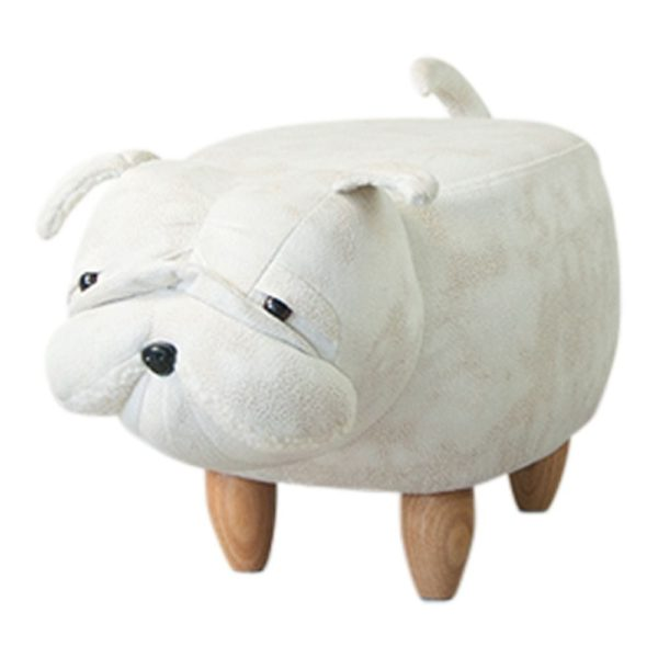 Stool Bulldog artificial leather / wood - LifeDeals