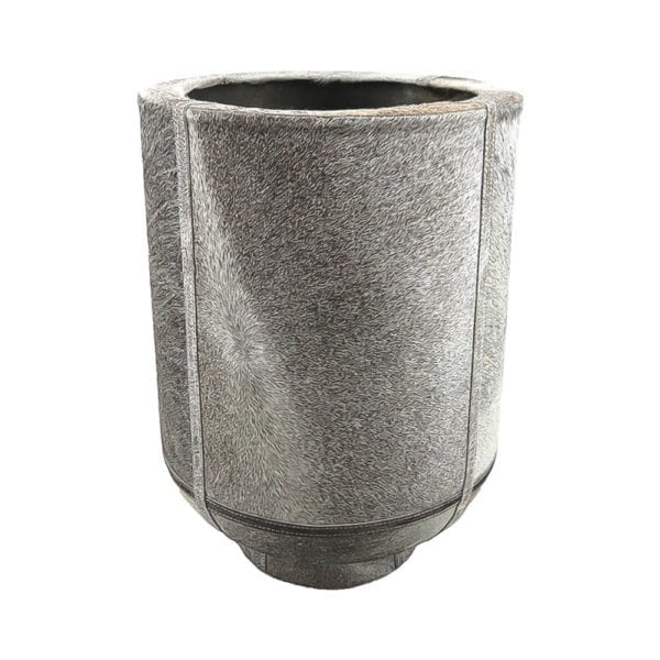 Planter Cow On Stand Grey 46cm Leather / metal - LifeDeals